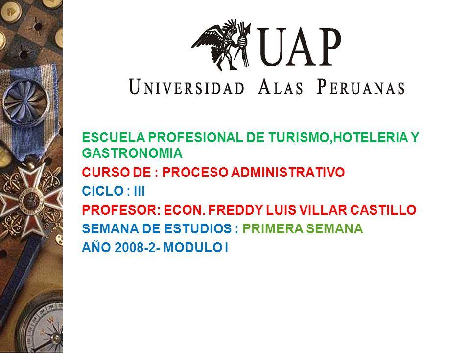 ESCUELA PROFESIONAL DE TURISMO,HOTELERIA Y GASTRONOMIA