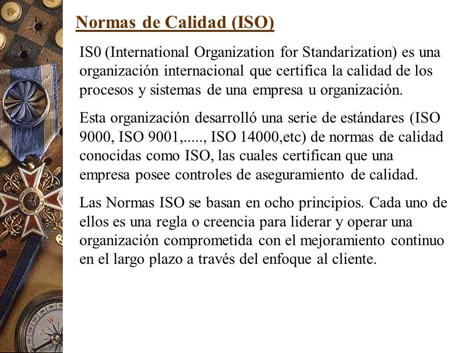 Normas de Calidad (ISO)