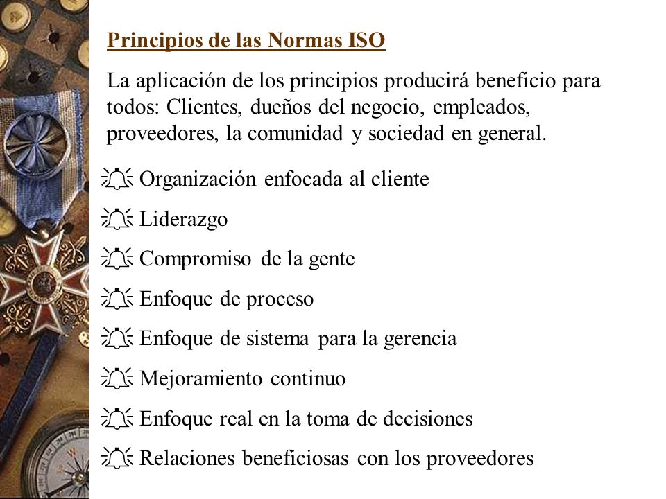 Principios de las Normas ISO