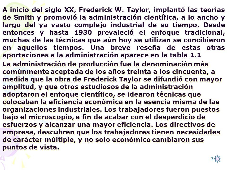 A inicio del siglo XX, Frederick W