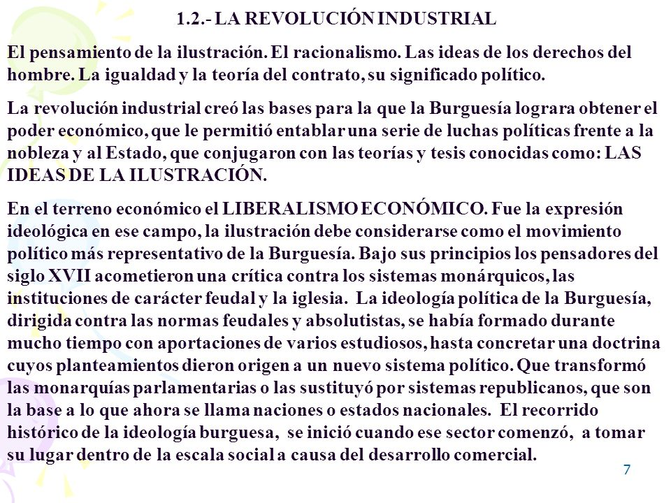 1.2.- LA REVOLUCIÓN INDUSTRIAL