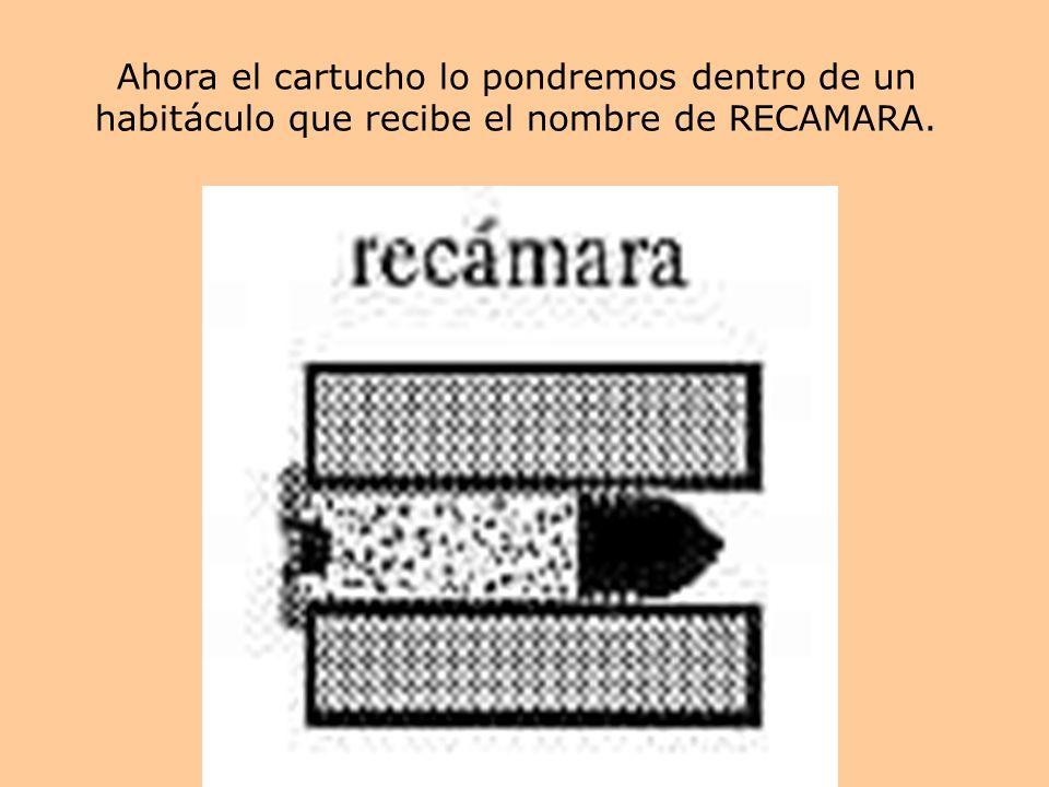 Ahora el cartucho lo pondremos dentro de un habitáculo que recibe el nombre de RECAMARA.