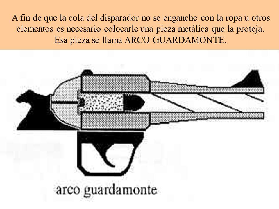 A fin de que la cola del disparador no se enganche con la ropa u otros elementos es necesario colocarle una pieza metálica que la proteja.