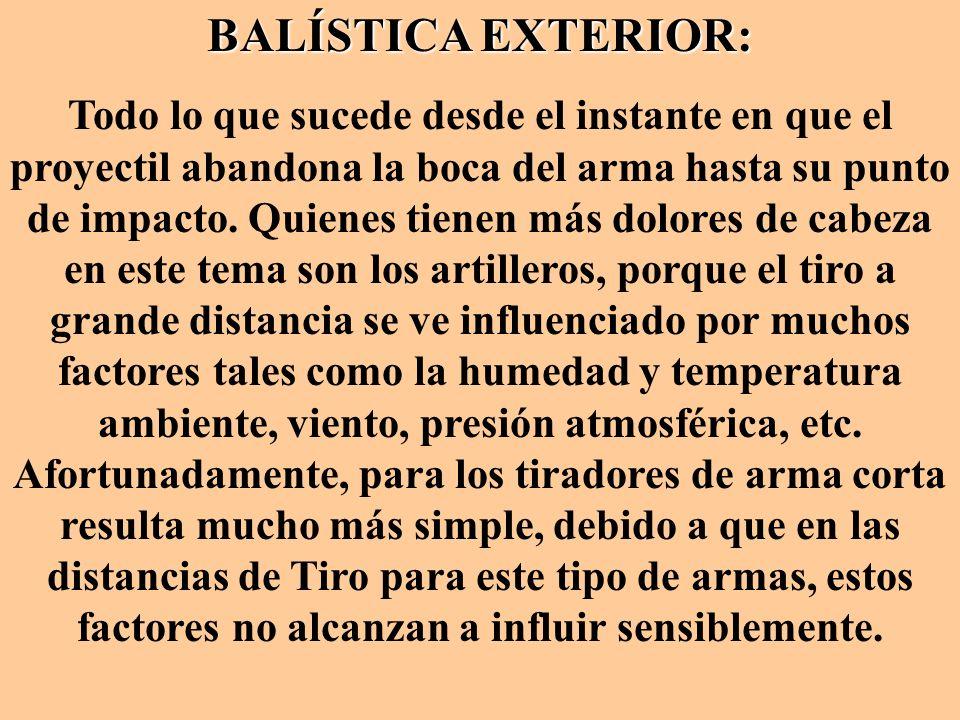 BALÍSTICA EXTERIOR: