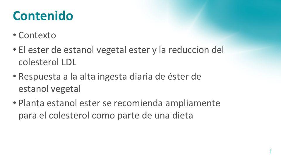 Contenido Contexto. El ester de estanol vegetal ester y la reduccion del colesterol LDL.