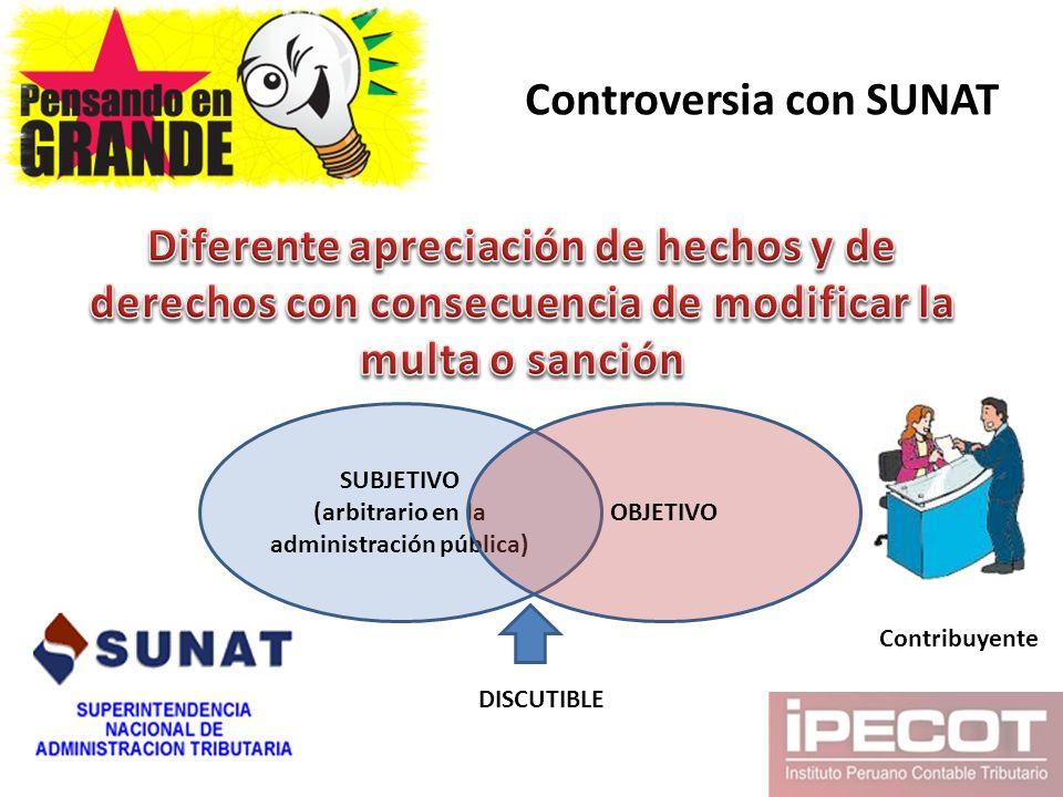 Controversia con SUNAT