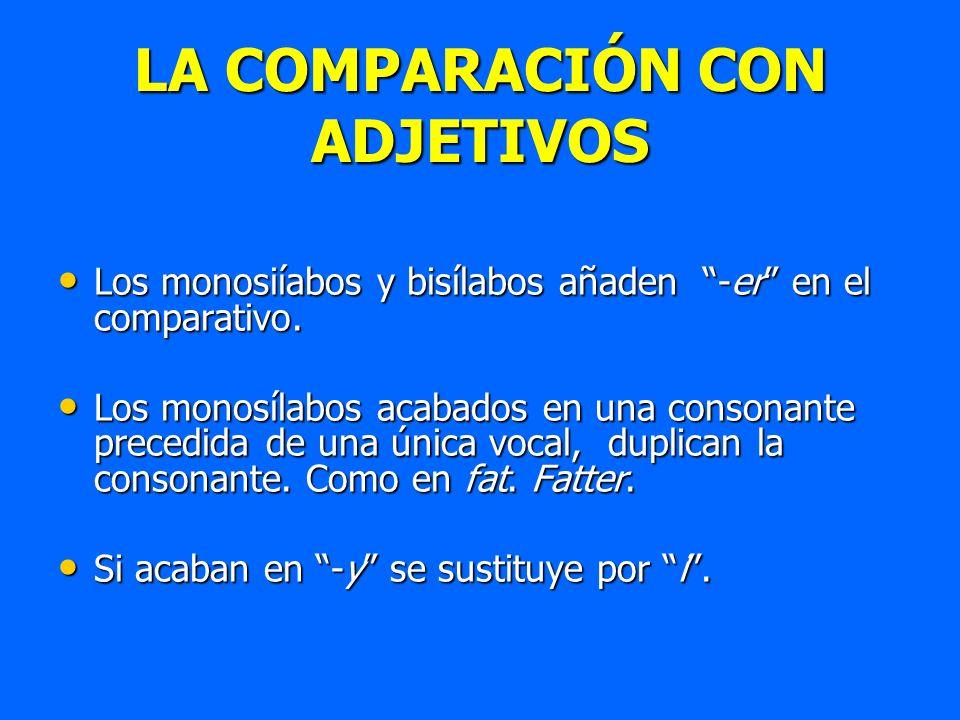 LA COMPARACIÓN CON ADJETIVOS