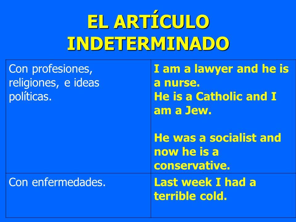 EL ARTÍCULO INDETERMINADO