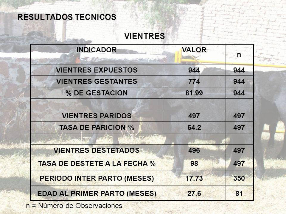 RESULTADOS TECNICOS VIENTRES
