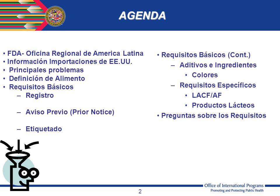 AGENDA FDA- Oficina Regional de America Latina