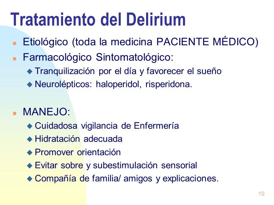 Tratamiento del Delirium