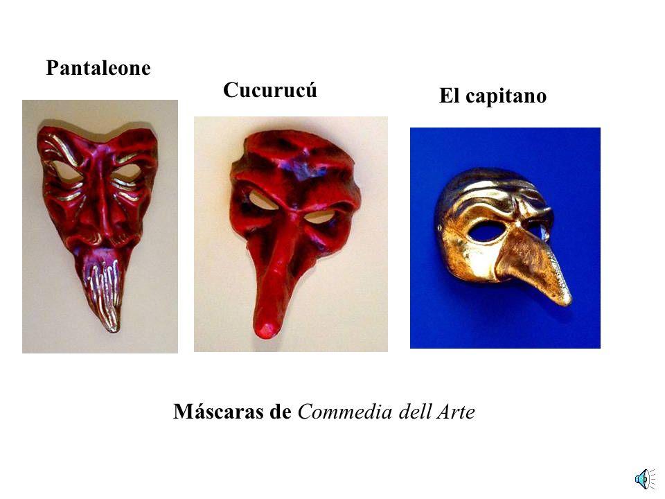 Pantaleone Cucurucú El capitano Máscaras de Commedia dell Arte