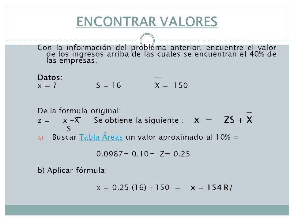 ENCONTRAR VALORES