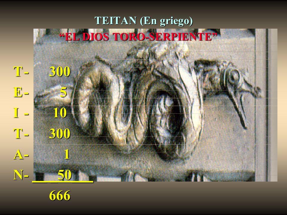 EL DIOS TORO-SERPIENTE