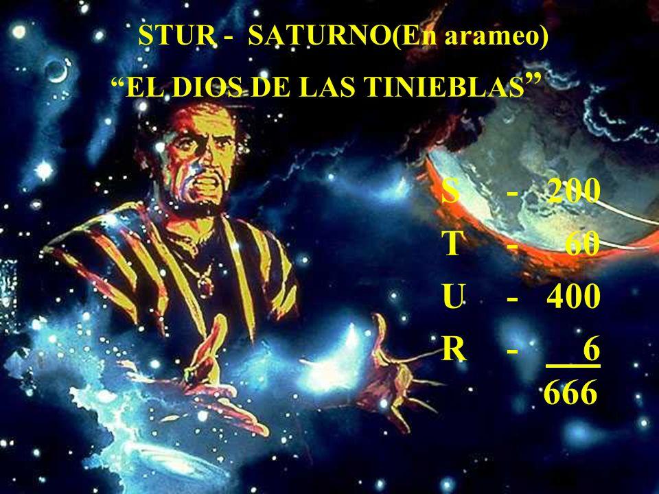 STUR - SATURNO(En arameo) EL DIOS DE LAS TINIEBLAS