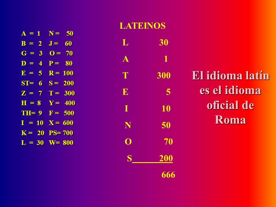 El idioma latín es el idioma oficial de Roma
