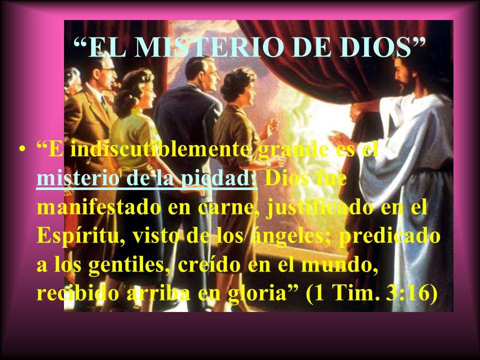 EL MISTERIO DE DIOS
