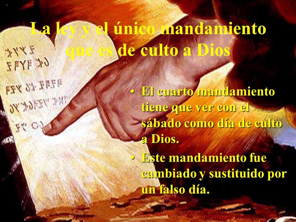 La ley y el único mandamiento que es de culto a Dios