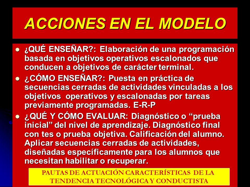 ACCIONES EN EL MODELO