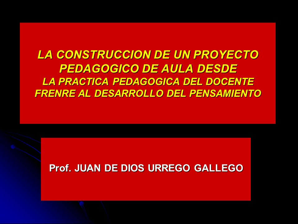 Prof. JUAN DE DIOS URREGO GALLEGO