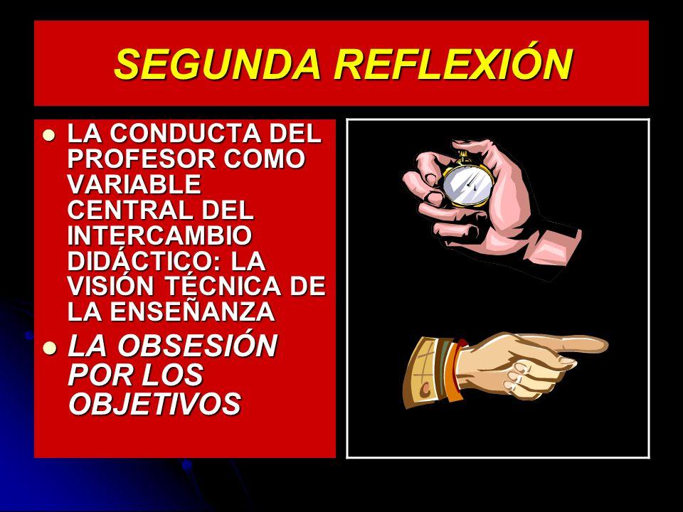 SEGUNDA REFLEXIÓN LA OBSESIÓN POR LOS OBJETIVOS