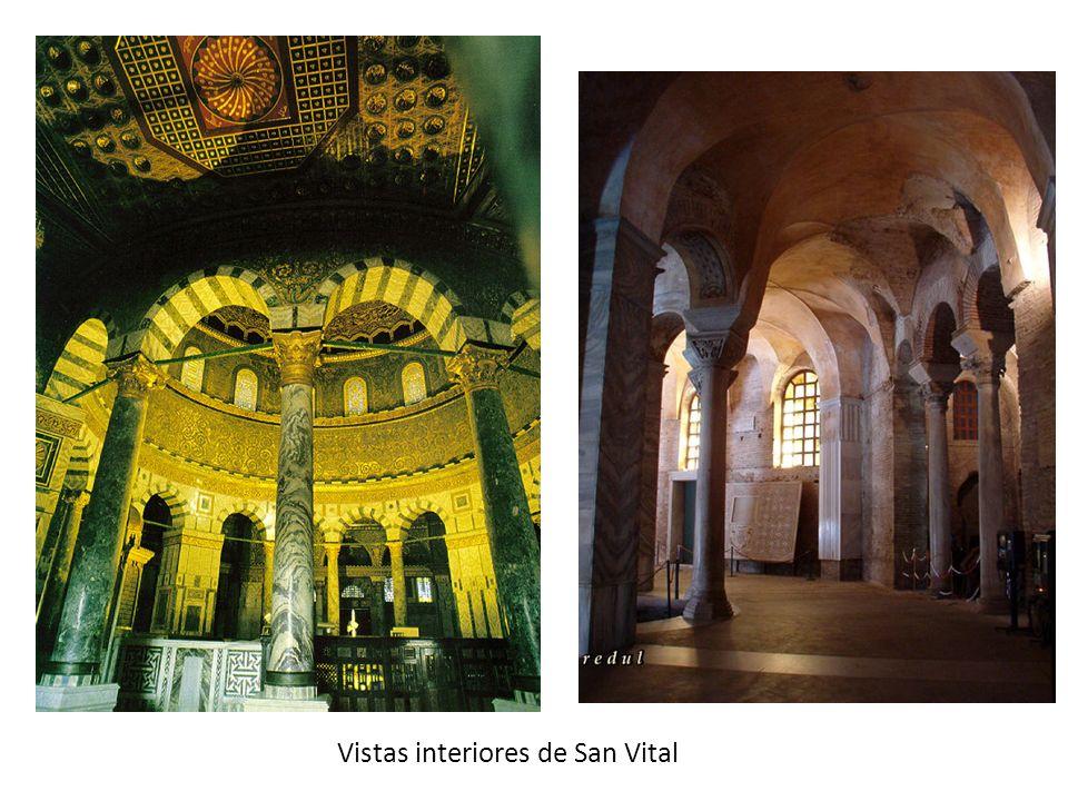 Vistas interiores de San Vital