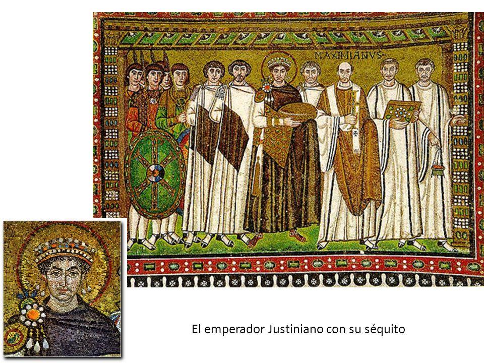 El emperador Justiniano con su séquito