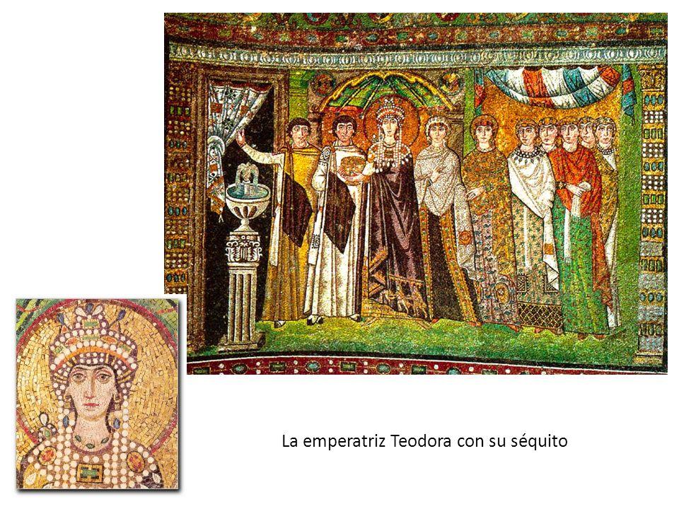 La emperatriz Teodora con su séquito