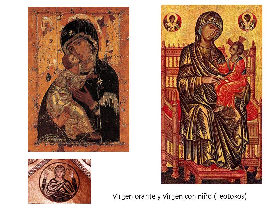 Virgen orante y Virgen con niño (Teotokos)
