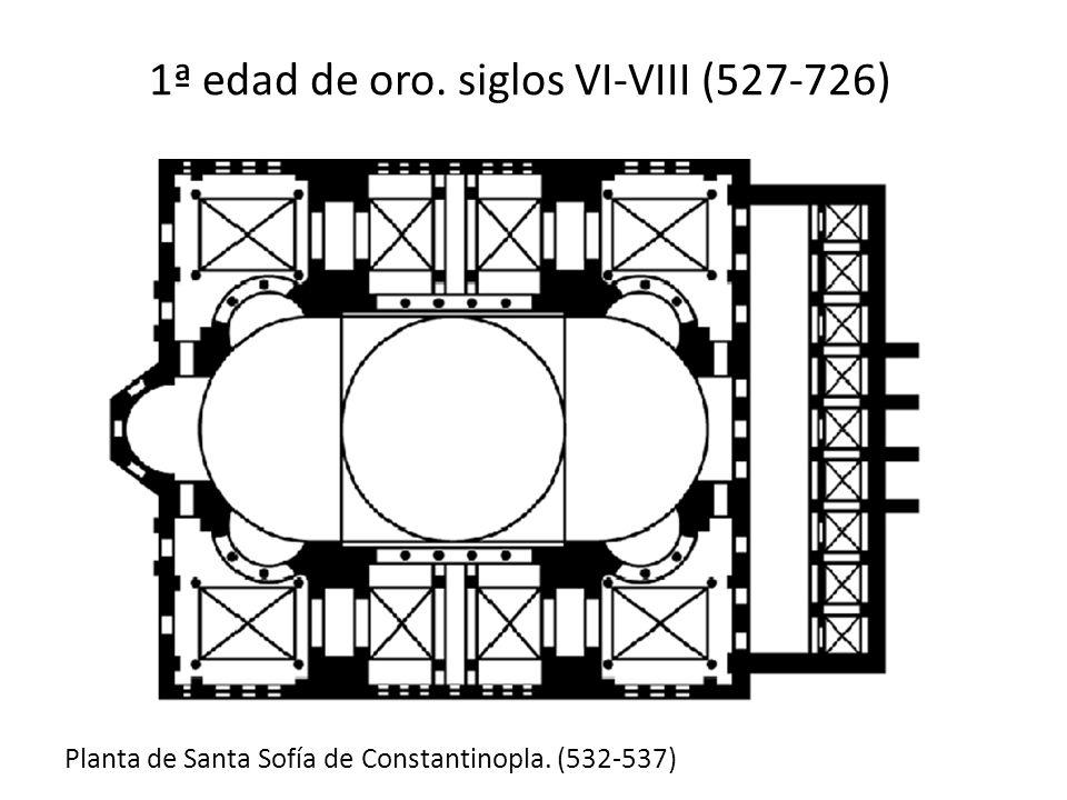 1ª edad de oro. siglos VI-VIII (527-726)