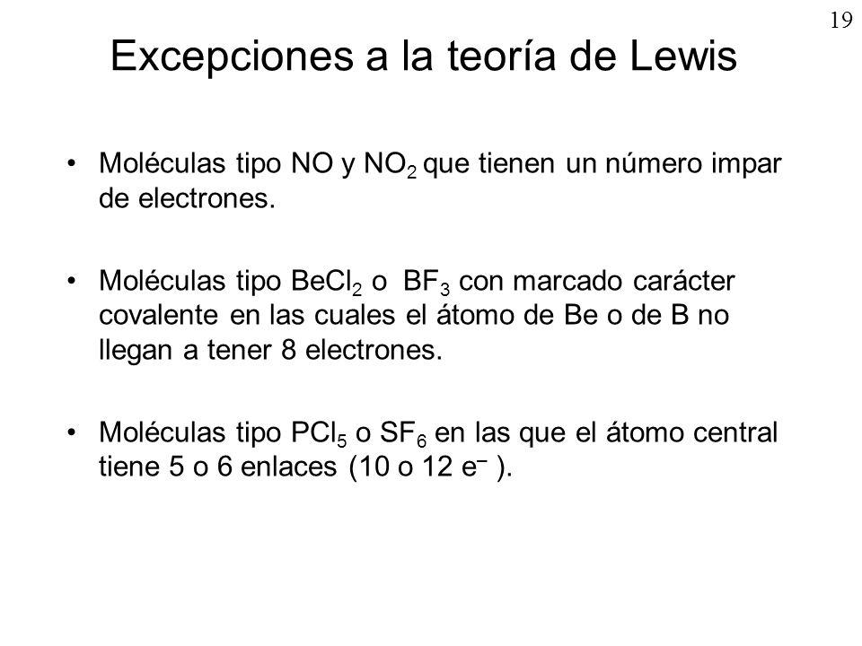 Excepciones a la teoría de Lewis