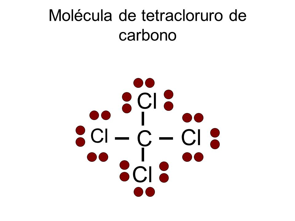 Molécula de tetracloruro de carbono
