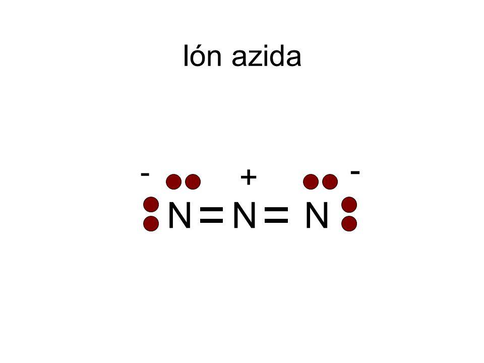 Ión azida N + - 34