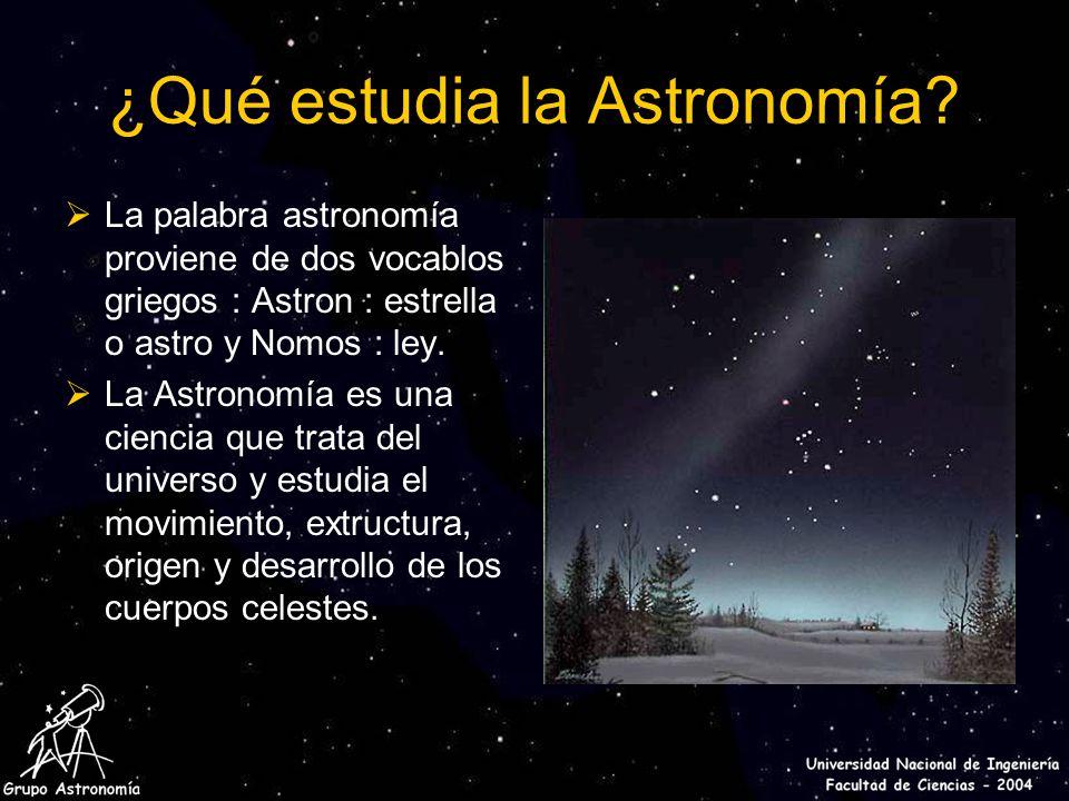 Historia de la astronom a ppt descargar for Arquitectura que se estudia