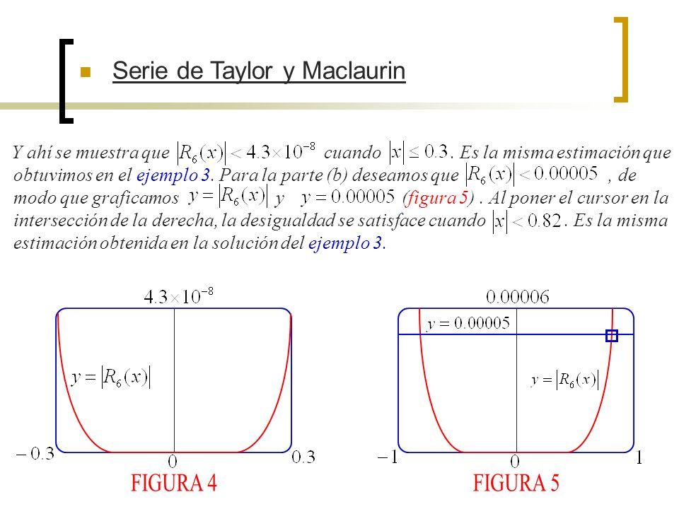 FIGURA 4 FIGURA 5 Serie de Taylor y Maclaurin