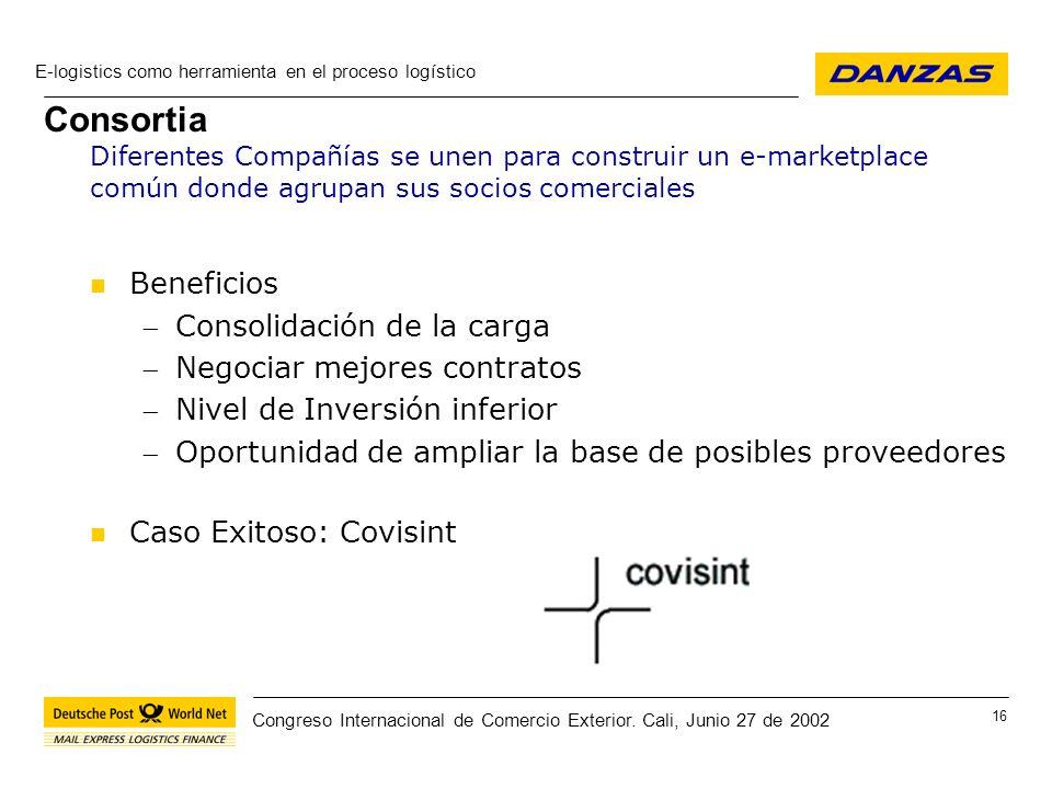 Consortia Beneficios Consolidación de la carga