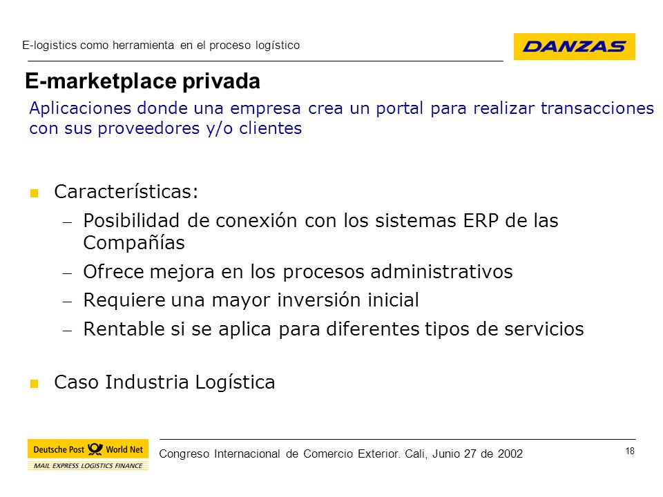 E-marketplace privada