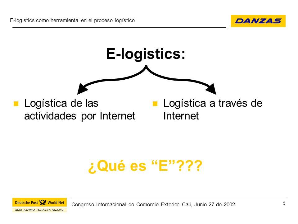 E-logistics: ¿Qué es E