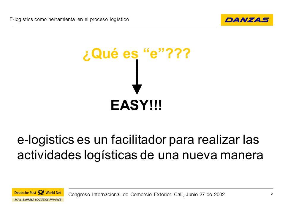 ¿Qué es e EASY!!! e-logistics es un facilitador para realizar las