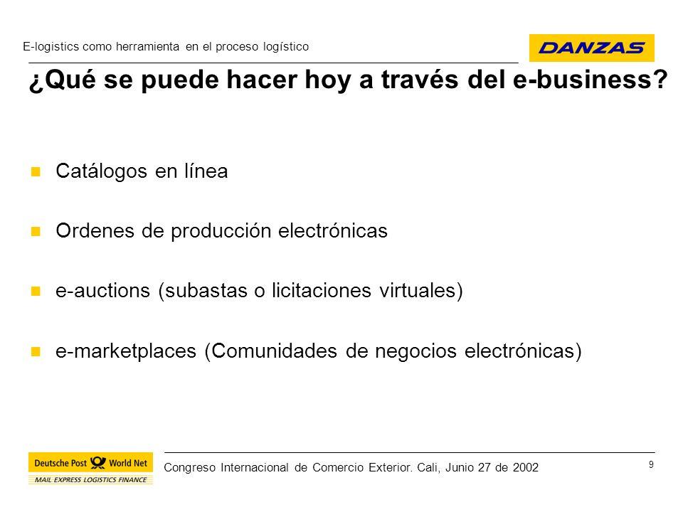¿Qué se puede hacer hoy a través del e-business