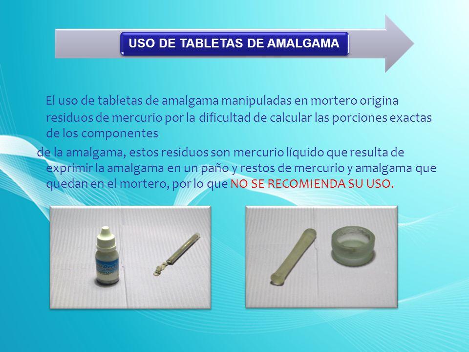 USO DE TABLETAS DE AMALGAMA