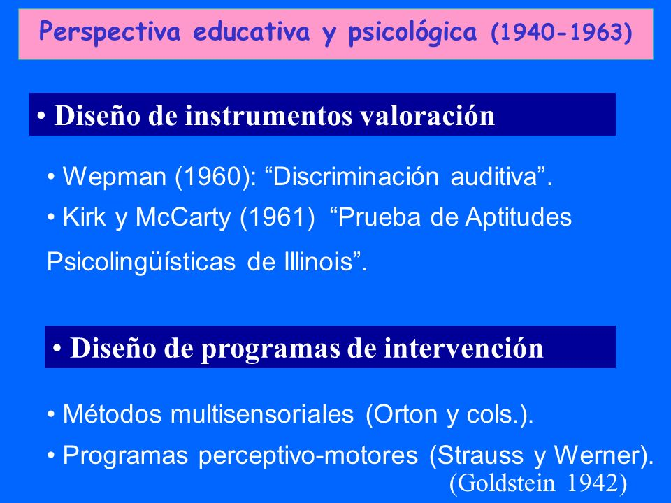Perspectiva educativa y psicológica (1940-1963)