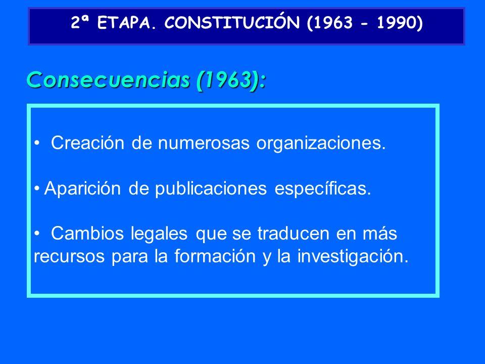 2ª ETAPA. CONSTITUCIÓN (1963 - 1990)