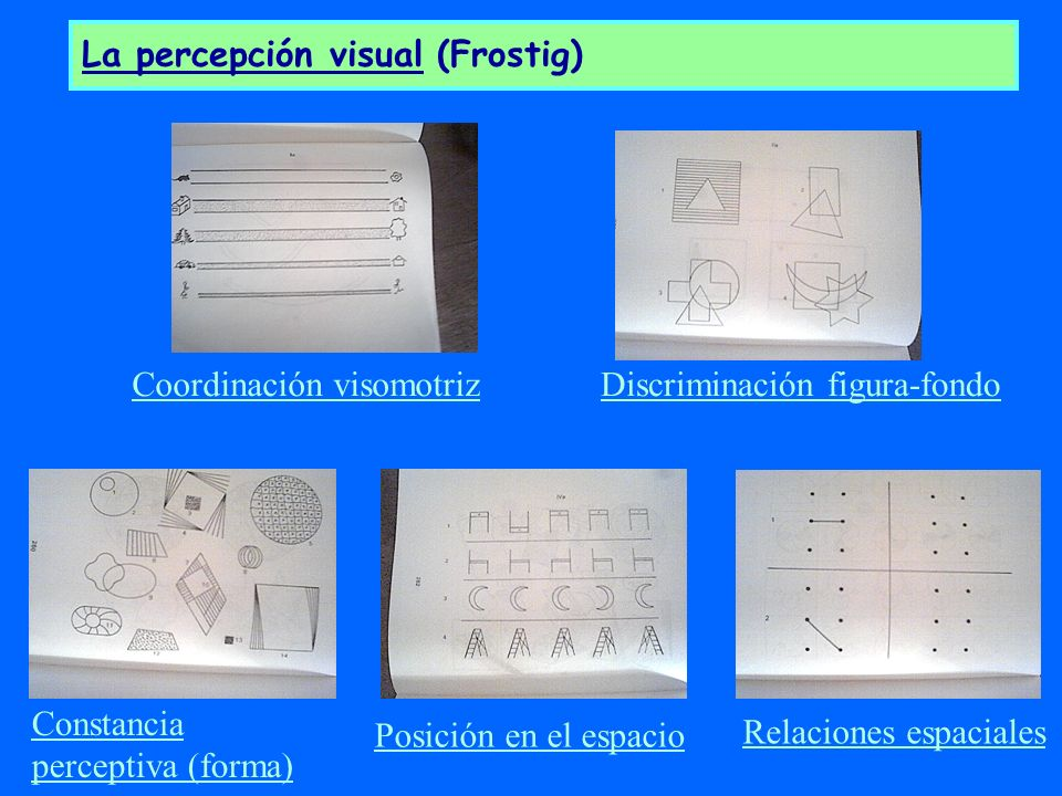 La percepción visual (Frostig)