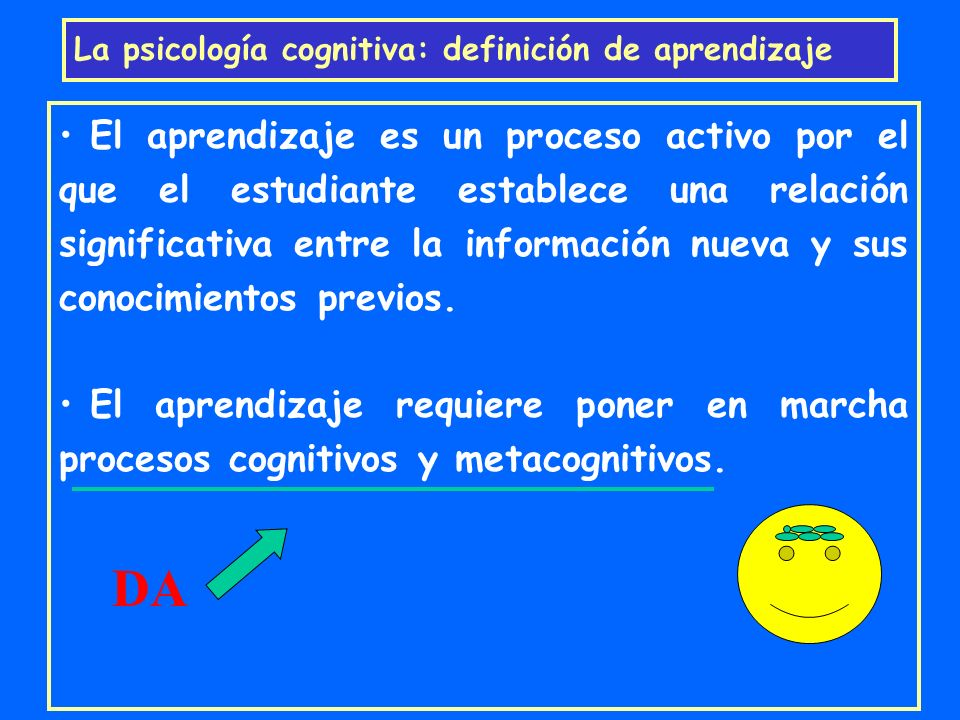 La psicología cognitiva: definición de aprendizaje