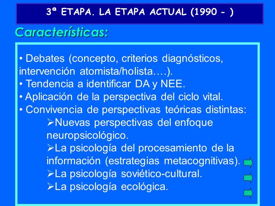 3ª ETAPA. LA ETAPA ACTUAL (1990 - )
