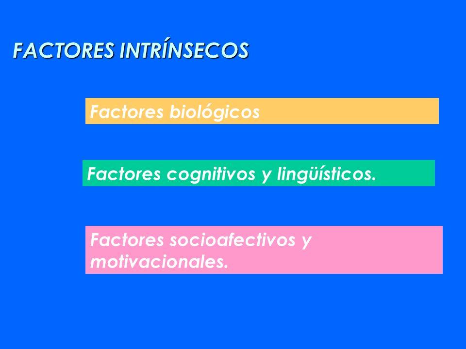 FACTORES INTRÍNSECOS Factores biológicos