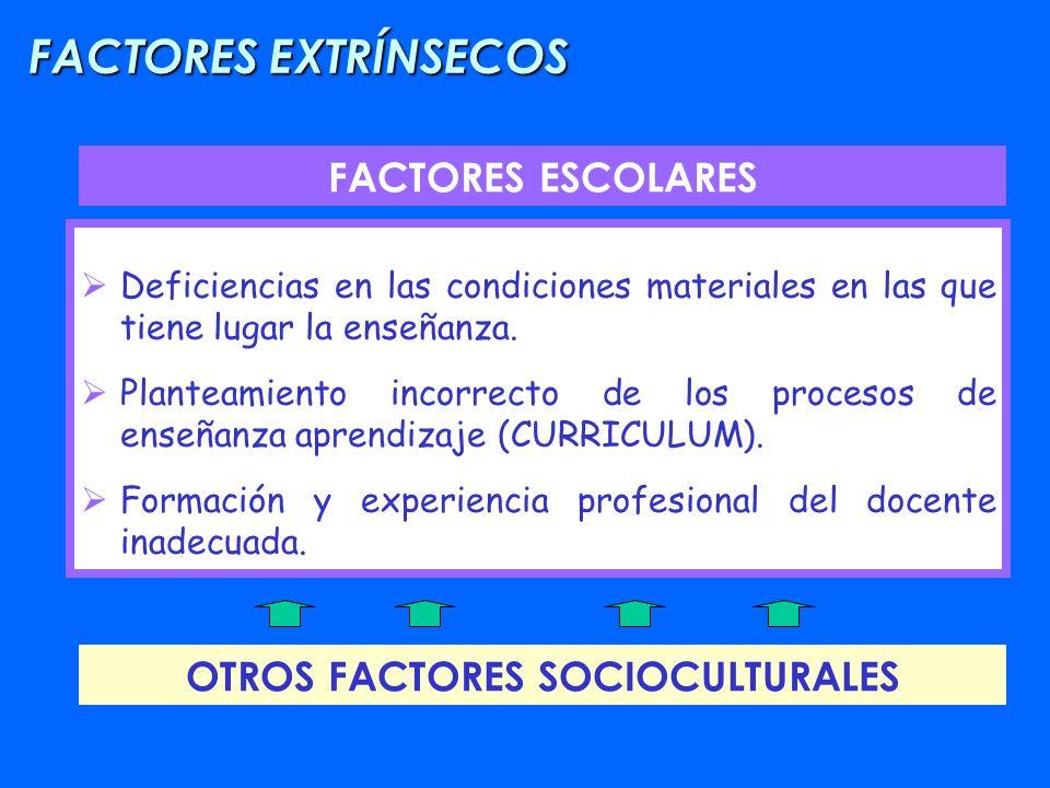 OTROS FACTORES SOCIOCULTURALES