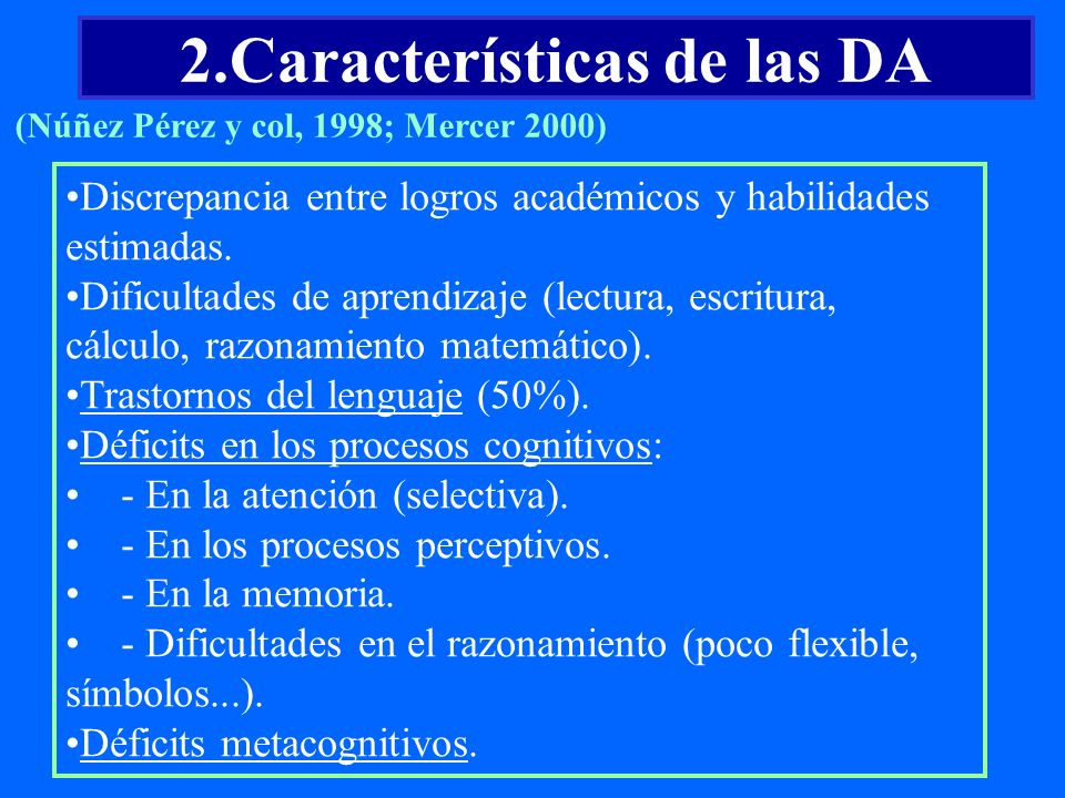 2.Características de las DA