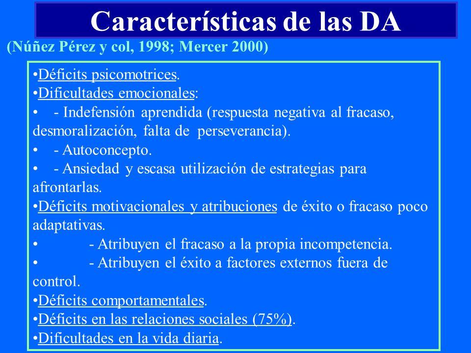 Características de las DA
